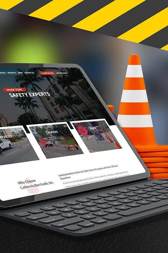 California Baricade Web Design