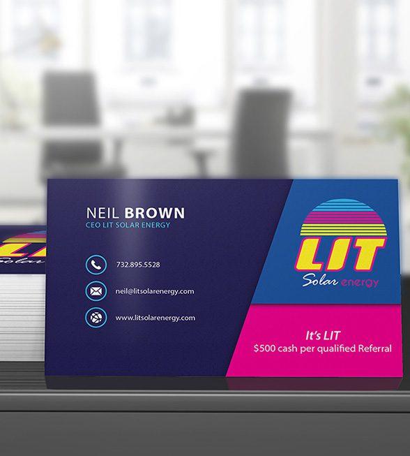 LIT Solar Energy Business Card Design
