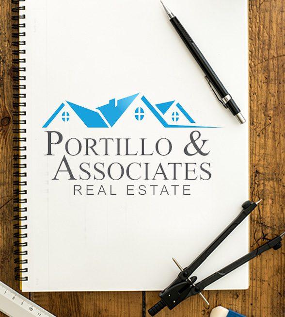 Portillo Associates Real Estate Logo Design