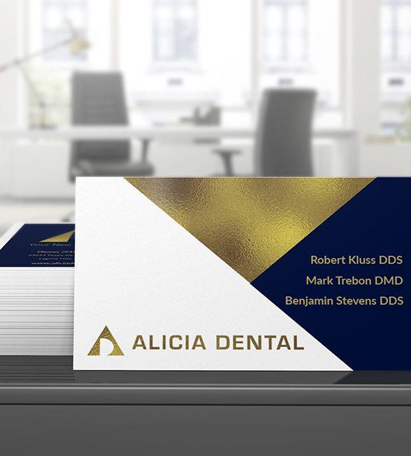 Alicia Dental Business Card Design
