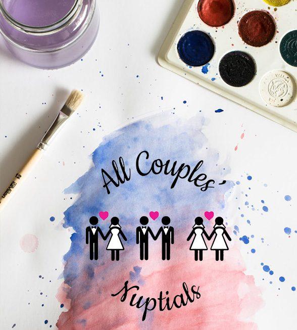 All Couples' Nuptials Logo Design