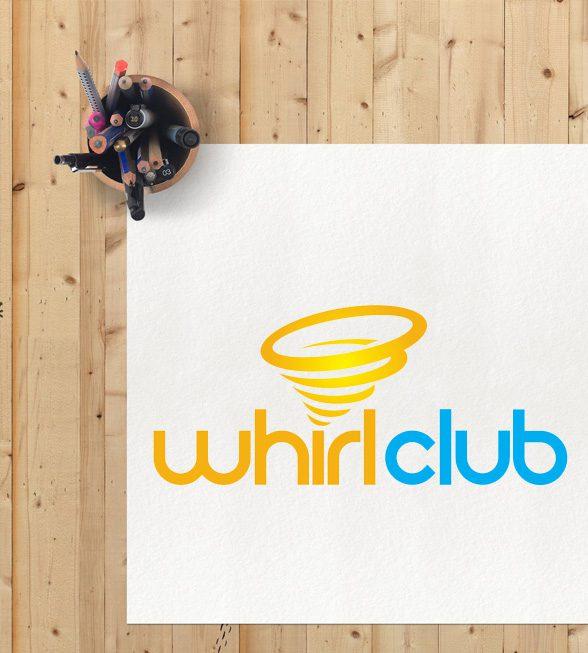 Whirl Club Logo Design