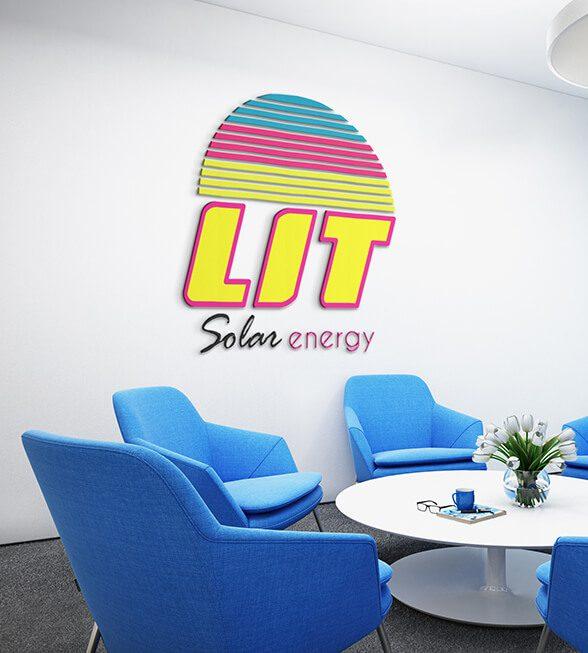 LIT Solar Logo Design