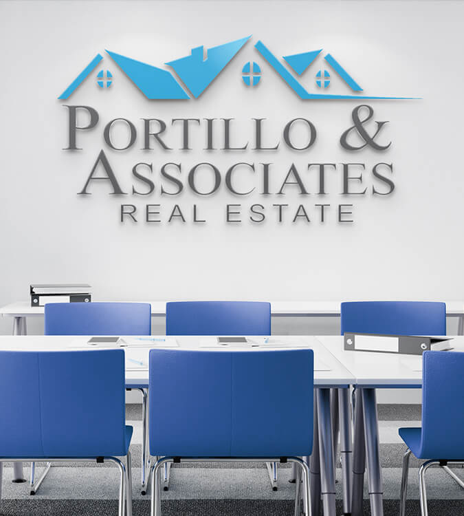 Portillo & Associates Real Estate Logo Design
