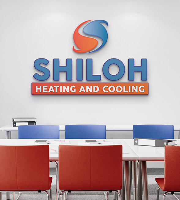 Shiloh Heating and Cooling Logo Design