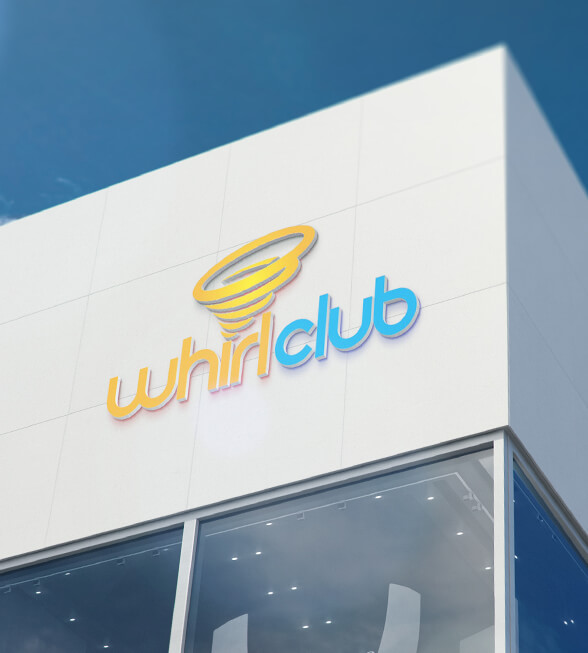 Whirl Club Logo Design