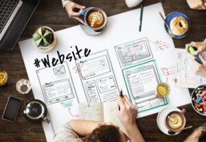 Website development layout sketch - LightHouse Graphics