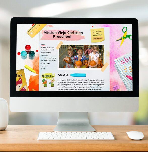 Mission Viejo Christian Preschool Website 19